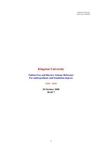 2008/09 fees - Kingston University