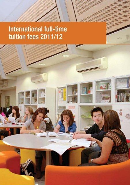 International full-time tuition fees 2011/12 - Kingston University