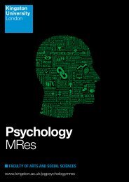 Psychology MRes - Kingston University