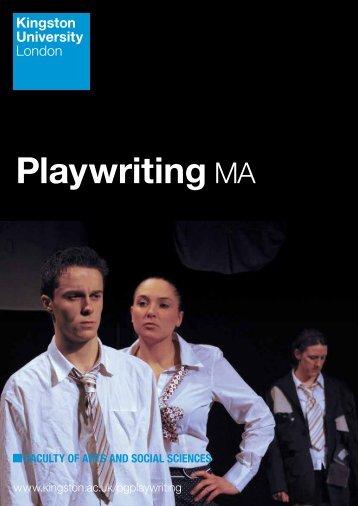 Playwriting MA - Kingston University