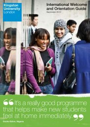 International Welcome and Orientation Guide - Kingston University