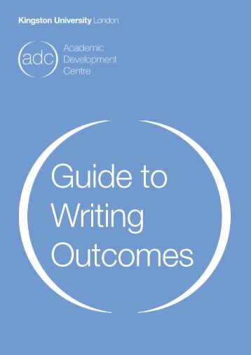 creative writing outcomes A student may complete a major sequence of 36 units in creative writing by learning outcomes have an understanding of professional pathways for creative.