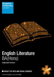 English Literature BA(Hons) - Kingston University