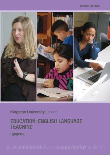 Download a PDF course booklet - Kingston University London