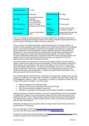 Vacancy Number - Kingston University