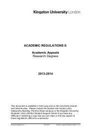 Academic Appeals - Kingston University