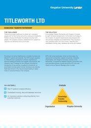 TITLEWORTH LTD - Kingston University