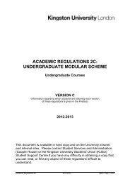 undergraduate modular scheme - Kingston University