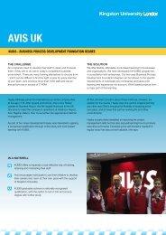 Avis Plc - Kingston University