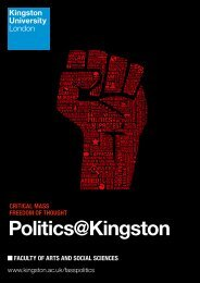 Download a PDF course booklet - Kingston University