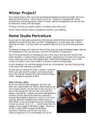 Winter Project? Home Studio Portraiture - Kingston Photographic Club