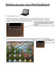 Setting up your new iPad Keyboard