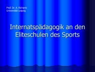 Internatspädagogik an den Eliteschulen des Sports, Prof. Dr