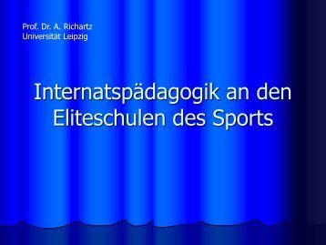 Internatspädagogik an den Eliteschulen des Sports, Prof. Dr