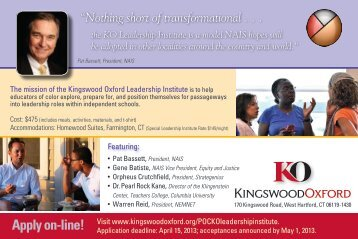 Nothing short of transformational . . . the KO Leadership Institute is a ...