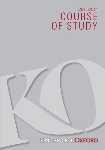 course of study - Kingswood Oxford School