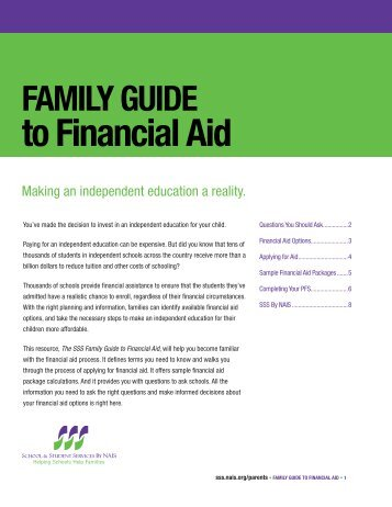 FAMILY GUIDE to Financial Aid - Kingswood Oxford School