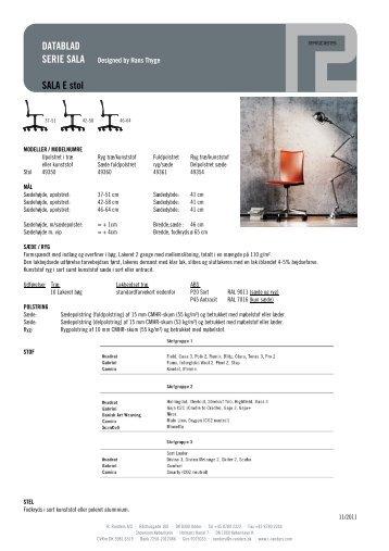 Datablad for SALA E undervisningsstol.pdf - Kinnarps