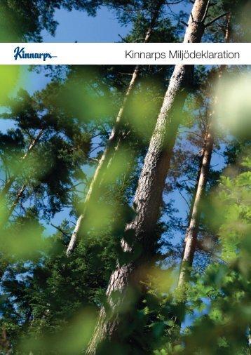 Här kan du ladda ner hela Miljödeklarationen (PDF) - Kinnarps