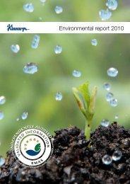 Environmental report 2010 - Kinnarps