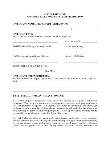 Employee Background Check Form   Architectu0027s Security Group, Inc.