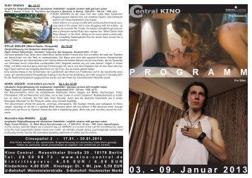 03. - 09. Januar 2013 P R O G R A M M - Central-Kino