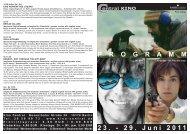 23. - 29. Juni 2011 P R O G R A M M - Central-Kino