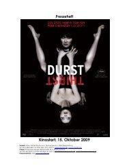 Kinostart: 15. Oktober 2009 - Central-Kino