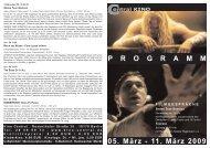 05. März - 11. März 2009 P R O G R A M M - Central-Kino