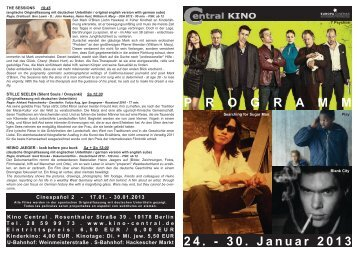 24. - 30. Januar 2013 P R O G R A M M - Central-Kino