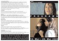 14. Mai - 20. Mai 2009 P R O G R A M M - Central-Kino
