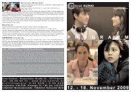 12. - 18. November 2009 P R O G R A M M - Central-Kino