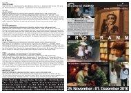 25. November - 01. Dezember 2010 P R O G R A M M - Central-Kino