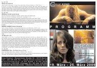 19. März - 25. März 2009 P R O G R A M M - Central-Kino