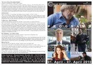 01. April - 07. April 2010 P R O G R A M M - Central-Kino