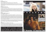 27. November - 03. Dezember 2008 P R O G R A M M - Central-Kino