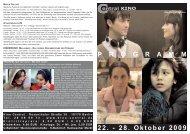 22. - 28. Oktober 2009 P R O G R A M M - Central-Kino