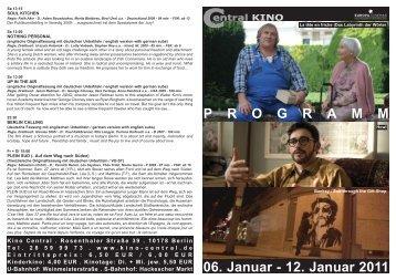 06. Januar - 12. Januar 2011 P R O G R A M M - Central-Kino