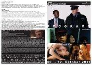 06. - 12. Oktober 2011 P R O G R A M M - Central-Kino
