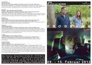 09. - 15. Februar 2012 P R O G R A M M - Central-Kino