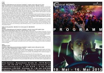10. Mai - 16. Mai 2012 P R O G R A M M - Central-Kino