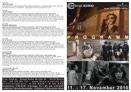 11. - 17. November 2010 P R O G R A M M - Central-Kino
