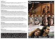 21. - 27. Oktober 2010 P R O G R A M M - Central-Kino