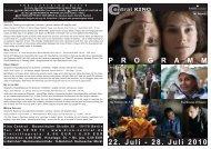 22. Juli - 28. Juli 2010 P R O G R A M M - Central-Kino