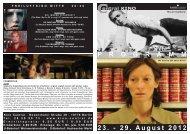 23. - 29. August 2012 P R O G R A M M - Central-Kino