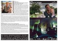 05. - 11. April 2012 P R O G R A M M - Central-Kino