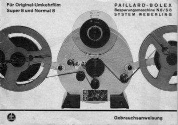 Gebrauchsanweisung - Kinobauer.de