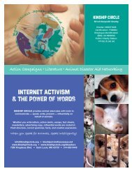 Internet activism & the power of words - Kinship Circle