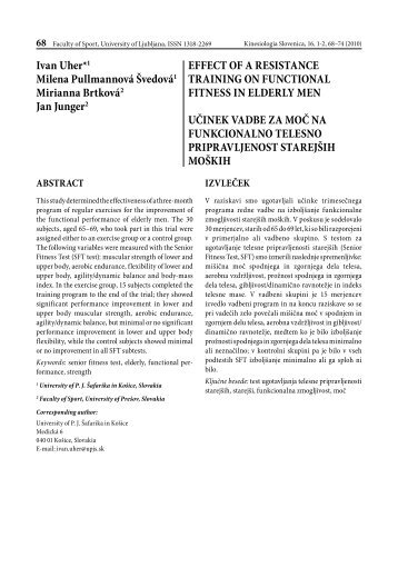 effect of a resistance training on functional fitness in elderly ... - KinSi