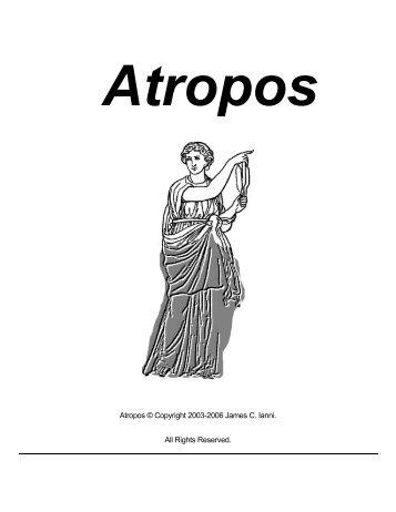 Atropos © Copyright 2003-2006 James C. Ianni. All ... - Kintecus